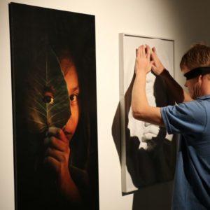 Event shot of 3D Printed art pieces Dubai